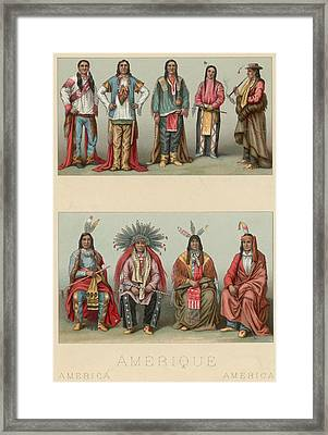 American Chiefs Framed Print by Hulton Archive