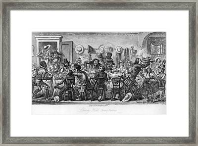 American Table Manners Framed Print by Fotosearch