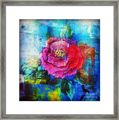 Framed Print featuring the mixed media Amidst The Chaos by Sabine ShintaraRose