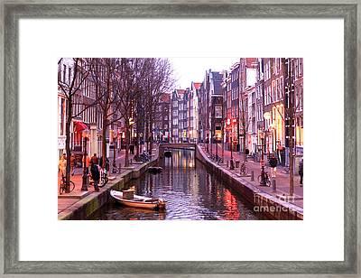 Amsterdam Red Light District Framed Print