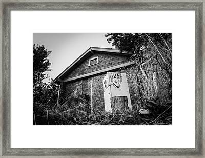 An Abandoned Home With A Personality  Framed Print