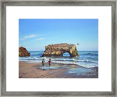 An Adventure On The Beach Framed Print