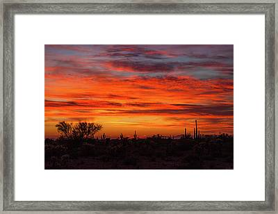 Framed Print featuring the photograph An Arizona Sky by Rick Furmanek
