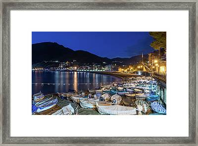 An Evening In Levanto Framed Print