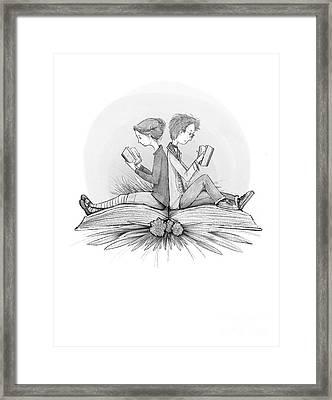 An Open Book Framed Print