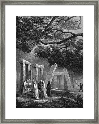Ancient Druidic Rite Framed Print by Kean Collection