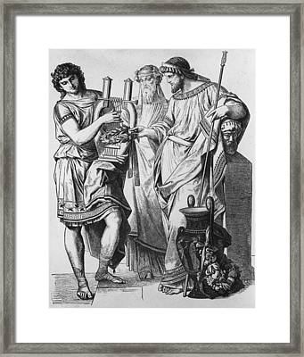 Ancient Greek Music Framed Print by Hulton Archive