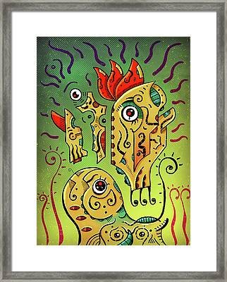 Framed Print featuring the digital art Ancient Spirit by Sotuland Art