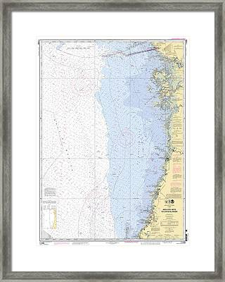 Anclote Keys To Crystal River Noaa Nautical Chart 11409 Framed Print
