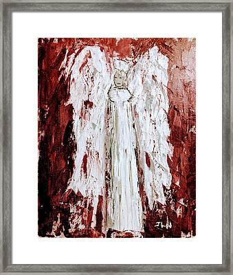 Angel Against Violence Framed Print
