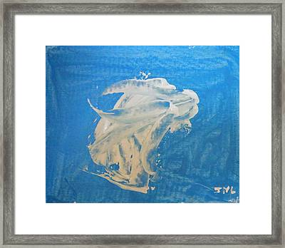 Angel And Dolphin Riding The Waves Framed Print