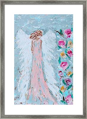 Angel For Childbirth And Framed Print