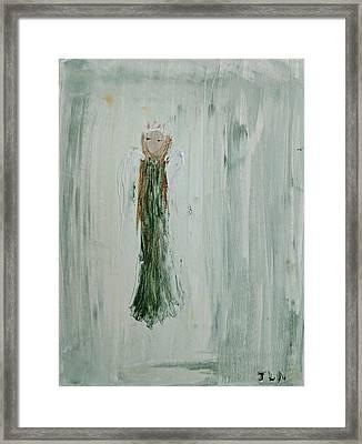 Angel In Green Framed Print