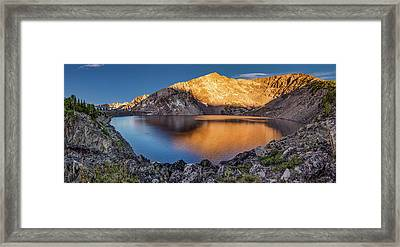Angel Lake Framed Print by Leland D Howard