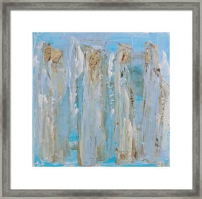 Angels Coming Together Framed Print
