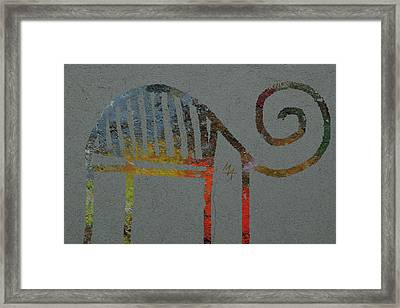 Framed Print featuring the digital art Animal by Attila Meszlenyi