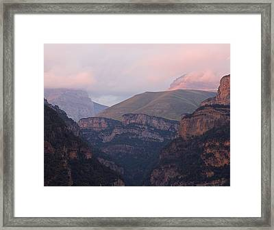 Framed Print featuring the photograph Anisclo Canyon Sunset by Stephen Taylor