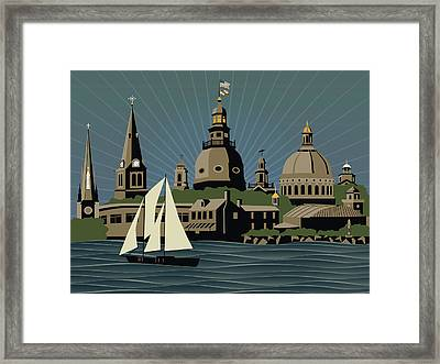 Annapolis Steeples And Cupolas Serenity Framed Print
