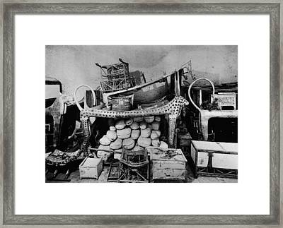 Antechamber Of King Tutankhamens Tomb Framed Print by Hulton Archive