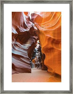 Framed Print featuring the photograph Antelope Canyon Glorious by Mark Duehmig