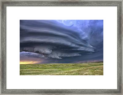 Anticyclonic Supercell Thunderstorm Framed Print by Jason Persoff Stormdoctor