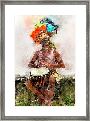 Antiguan Drummer Framed Print
