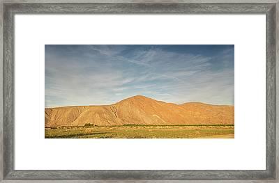 Anza Borrego Sunset Framed Print