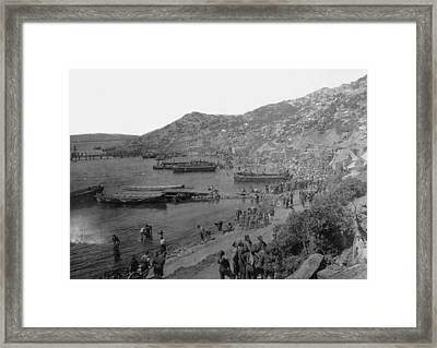 Anzac Cove Framed Print by Hulton Archive