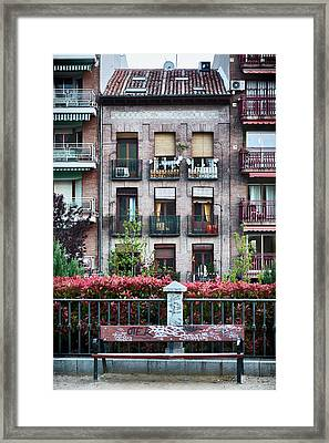 Apartments In Madrid Framed Print