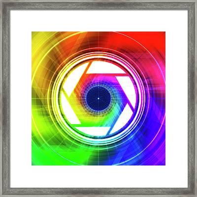 Aperature Framed Print