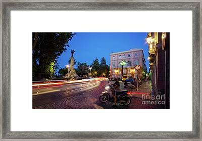 Framed Print featuring the photograph Apodaca Boardwalk Traffic Lights Cadiz Spain by Pablo Avanzini
