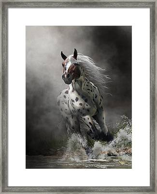 Framed Print featuring the digital art Appaloosa by Daniel Eskridge