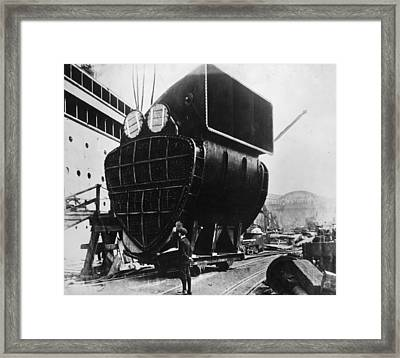 Aquitania Component Framed Print by General Photographic Agency