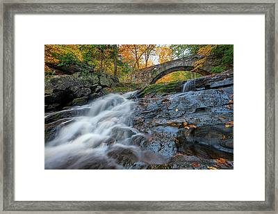 Framed Print featuring the photograph Arch Bridge At Vaughan Woods by Rick Berk