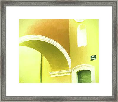 Archway At Antibes Framed Print by Tony Grider
