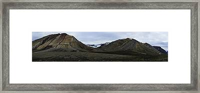 Arctic Mountain Landscape Framed Print
