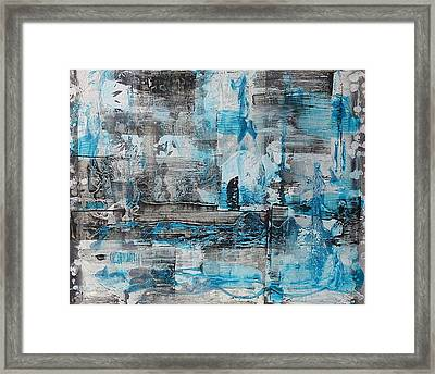 Framed Print featuring the painting Arctic by 'REA' Gallery