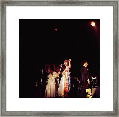 Aretha Franklin Performs At Newport Framed Print by David Redfern