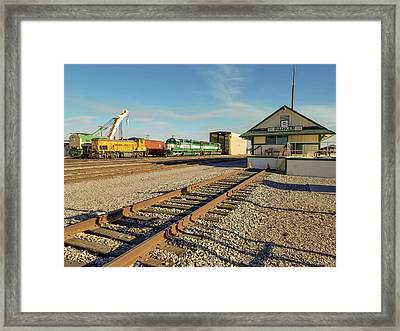Arizona And California Railroad Headquarters And Engine Yard Framed Print