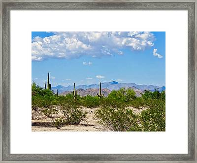 Arizona Desert Hidden Valley Framed Print