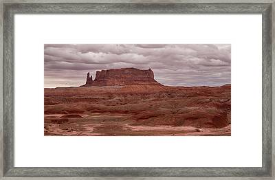 Framed Print featuring the photograph Arizona Red Clay Painted Desert Panoramic View by James BO Insogna