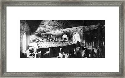 Armaments Factory Framed Print by General Photographic Agency