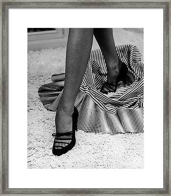 Artful Shot Of Model Showing Off A Pair Framed Print by Nina Leen