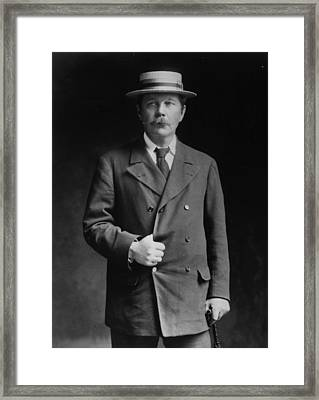 Arthur Conan Doyle Framed Print by London Stereoscopic Company