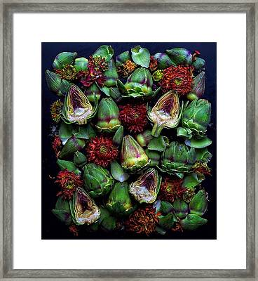 Artichoke Art Framed Print