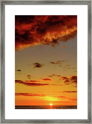 As The Sun Touches Framed Print