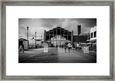 Asbury Park Boardwalk Framed Print