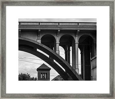 Framed Print featuring the photograph Ashton Viaduct I Bw by David Gordon