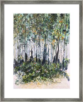 Aspenwood Framed Print