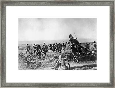 Assault On Cantigny Framed Print by Hulton Archive